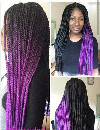 hair extension colors and styles purple ombre box braids do that hair 2436