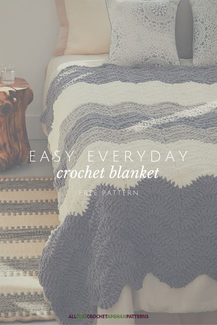 I love this ripple crochet blanket pattern - it would look so great on my bed in the winter.