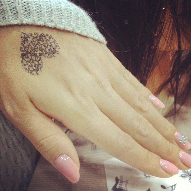 cute-tattoo | Beautiful Tattoo Ideas laced heart