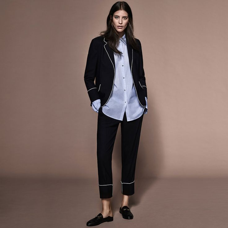 A subtle pinstripe, crisp cotton and classic piping trims are the key to wearable boudoir chic this season | Witchery HW16