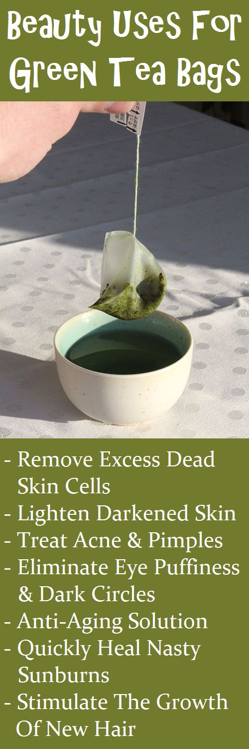 Don't throw away those used green tea bags! Beauty & Personal Care - skin care face - http://amzn.to/2kVpuh4