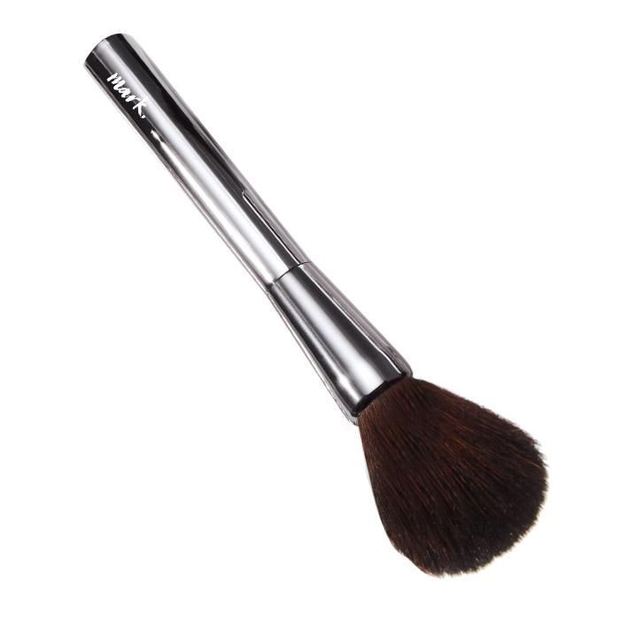 """A brush with super-soft, ultra-luxe bristles that make sure pressed and loose powders go on light and right for the ultimate finish. Create a powder perfect finish with this full bristle brush. Best used for applying powder or bronzer all over the face.Natural hair. 7"""" L. HOW TO USE: • Dip brush into loose powder or swirl into a compact. • Tap or blow lightly on the brush to rid it of excess powder. • Dust over the T-zone (forehead, nose, chin) first, then lightly dust under eyes and aroun"""