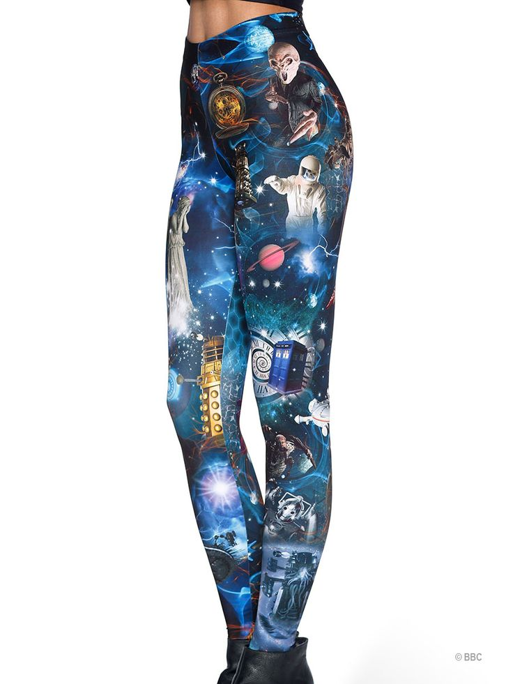 Dr Who Mash Up HWMF Leggings (WW ONLY $85AUD) by Black Milk Clothing