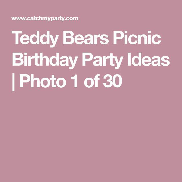 Teddy Bears Picnic Birthday Party Ideas | Photo 1 of 30