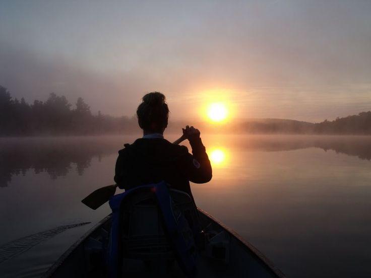 Sunrise on Big Straggle Lake, August 2014