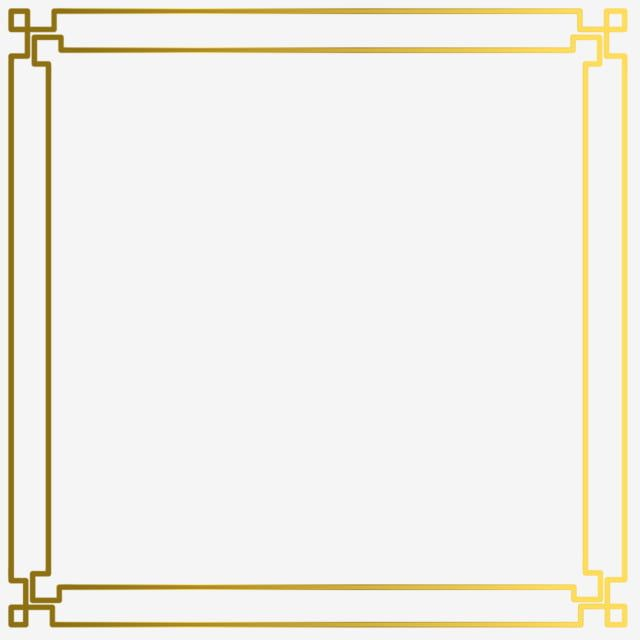 Gold Simple Border Frame Vector Gold Border Picture Png And Vector With Transparent Background For Free Download Frame Border Design Simple Borders Frame