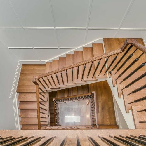 Residential architecture by Toronto architect, Lorne Rose. These images are of a property in the Forest Hill neighbourhood of Toronto. #architecture #toronto #luxury #home #renovation #residentialarchitect #architect #modern #foresthill #interior #design #decoration #interiordesign #interiordecorating #staircase #spiralstaircase #wood
