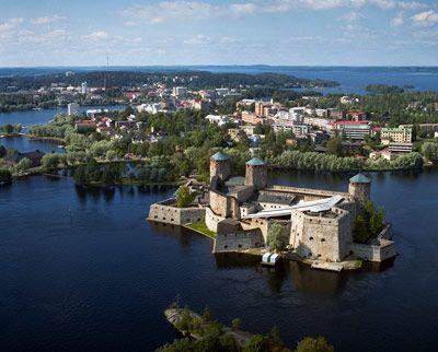 The castle in Savonlinna, Finland