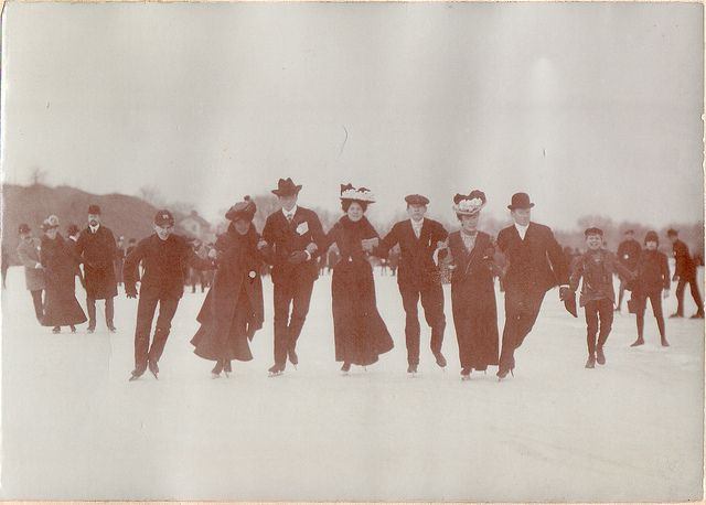 ice skating party, 1900