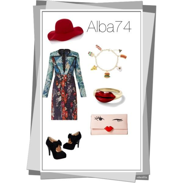 A fashion look from March 2015 featuring Burberry dresses, Kate Spade clutches and Alison Lou rings. Browse and shop related looks.