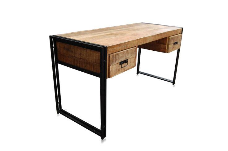 Schreibtisch industrial  Neu im Shop: Schreibtisch Industrial Industriell mit Schubladen ...