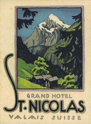 Hotel St. Nicolas, Valais ~ Arnold Brugger