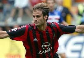 Alberto Gilardino scored his first goal with Milan against Sampdoria