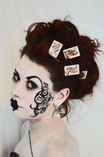 Alice in wonderland makeup.