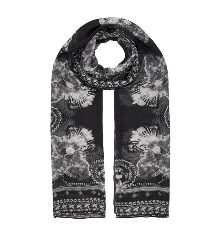 GIVENCHY Panther Print Silk Scarf. #givenchy #