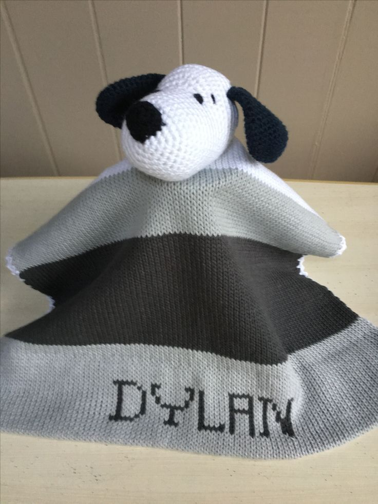 Personalized cotton lovey.Special lovey security blankets can be personalized with the child's name