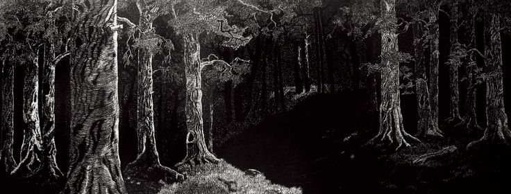 Composition XIII, 2012 Ink on paper, hand carved  (40cm x 100 cm) Private collection, Australia