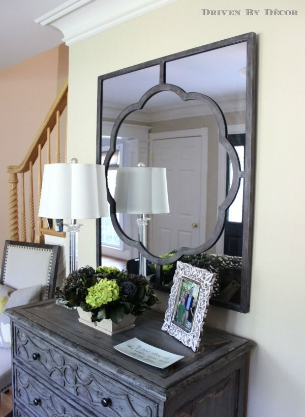 Beautiful Gabby Home mirror over foyer chest of drawers
