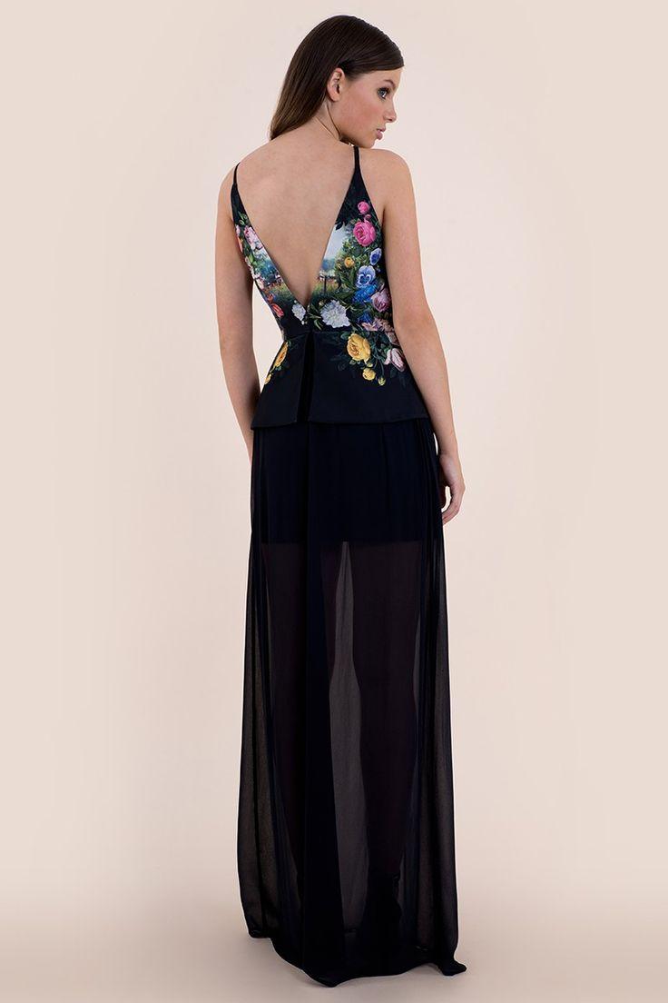 Garden Of Live Flowers Maxi Dress - Seduce x Disney - Brands   Seduce