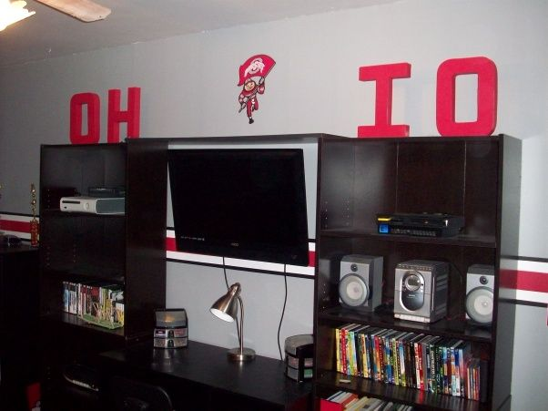 Ohio State Rooms | Ohio State Room, THis is the Ohio State room I did for my son. He ...
