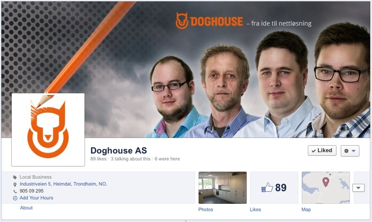 Our new Facebook timeline at www.facebook.com/doghousenorway