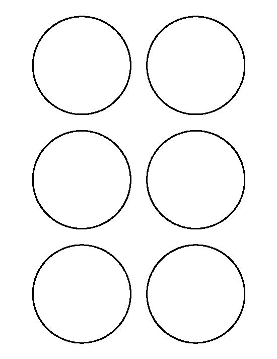 3 inch circle pattern. Use the printable outline for