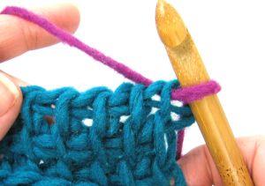 Tunisian Crochet Changing Colours