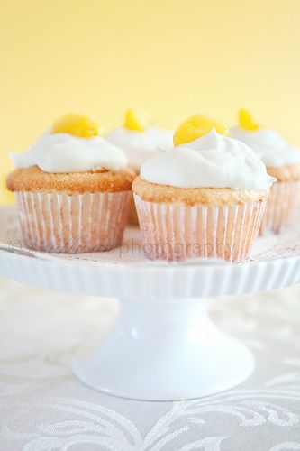 Pineapple angel food cake cupcakes--add shredded coconut to top, and maybe to whipped cream topping?