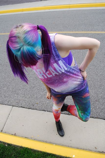 colored hair      ~*:)~unique styles~(:*~      grunge/pastel:)
