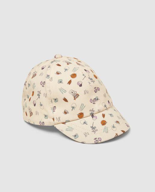 Gorra de bebé Brotes en color crema con estampado a contraste en ... b350f900875