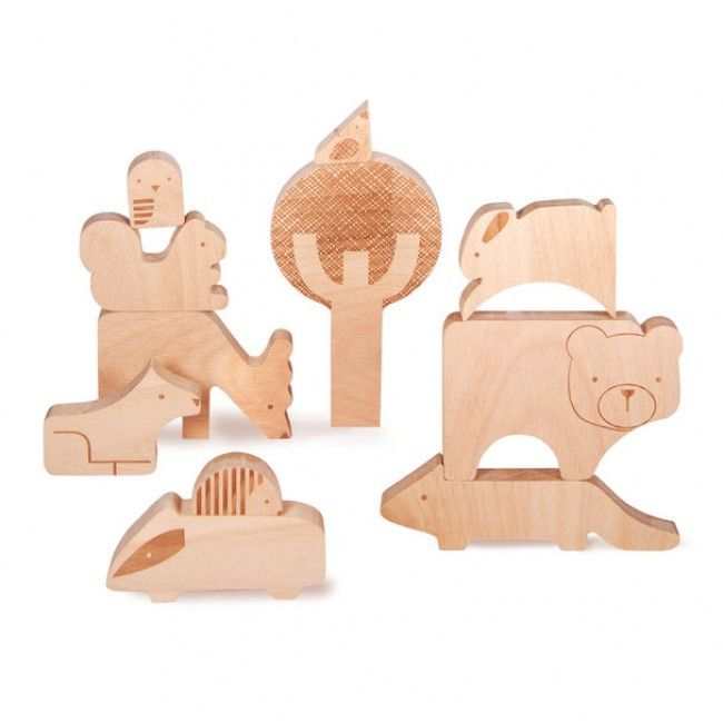 We've just received a bunch of gorgeous Petit Collage goodies, including this Wooden Puzzle, which can also be used for free play and stacking! Made with FSC-approved rubber wood. #entropytoys #woodentoys #petitcollage