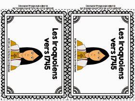 Aujourd'hui, je partage avec vous un autre lapbook  en univers social pour le deuxième cycle. Il s'agit du lapbook Les Iroquoiens vers 1745...