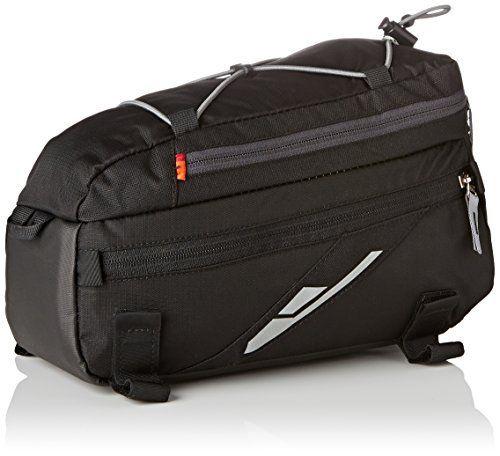 Vaude Silkroad Plus Sacoche vélo Homme Noir 22 x 22 x 29 cm: compartiment zippé dans le rabat – tendeur araignée – – 2 compartiments…