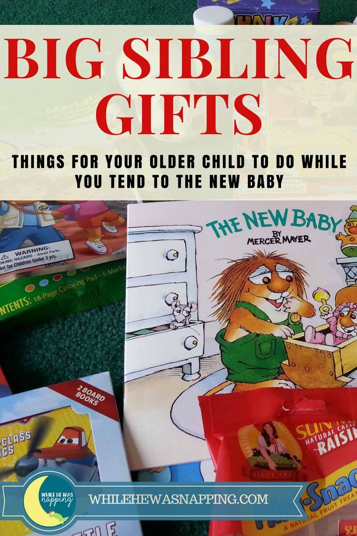 Help ease the change of a new baby with a Big Brother Kit (or Sister) that will give older siblings something to do while mom is busy tending to the baby.