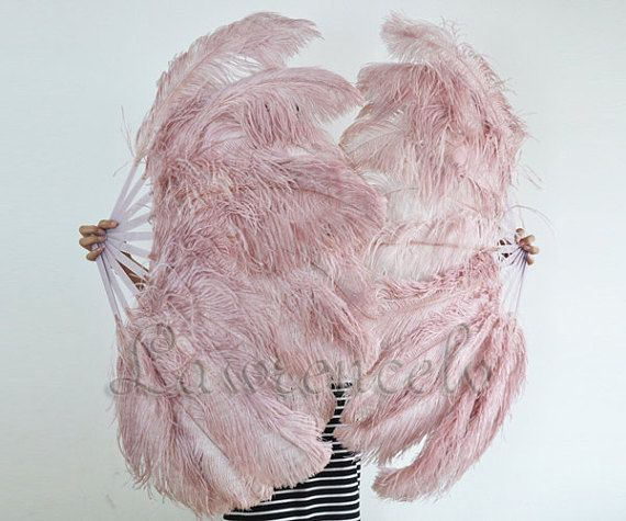 "Burlesque Red 3 Layers Ostrich Feather Fan Opened 65/"" with Travel leather Bag"