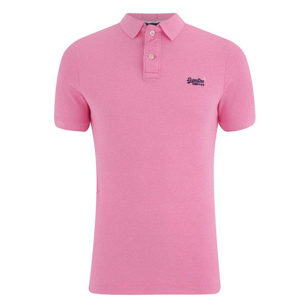 Superdry Men's Grindle Short Sleeve Pique Polo Shirt - Fluro Pink... (£25) ❤ liked on Polyvore featuring men's fashion, men's clothing, men's shirts, men's polos, pink, mens polo shirts, mens pink polo shirt, mens short sleeve shirts, mens short sleeve polo shirts and mens pink shirts