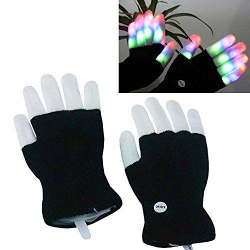 Luwint Children LED Finger Light Gloves - Colorful Flashing Novelty Toys for Kids
