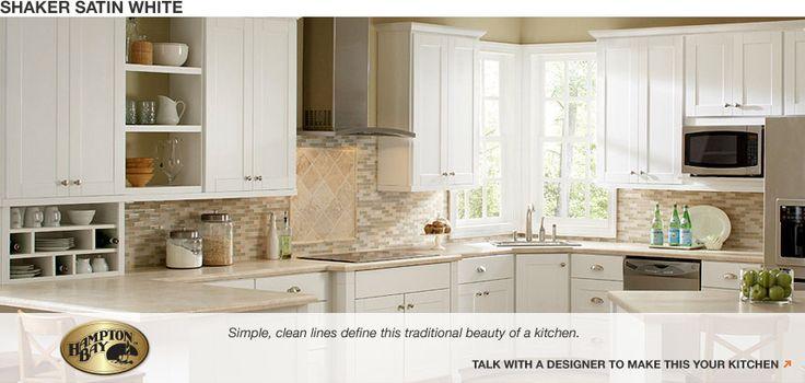 Fralicks5 gabby 39 s bitchen kitchen pinterest for Hampton bay white kitchen cabinets