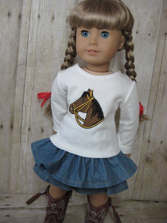18 inch Doll Clothes American Girl Ruffled Skirt by nayasdesigns, $34.50