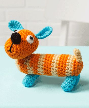 Sam the Dog: This crochet project is so easy to make, they're a perfect project for beginning crocheters.