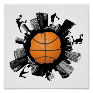Ville de basket-ball poster