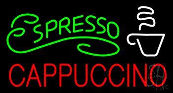 Green Espresso Red Cappuccino Logo Neon Sign