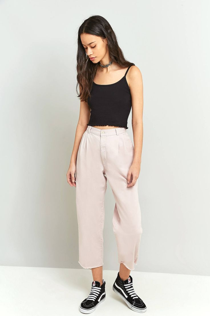 Urban Renewal Vintage Customised Overdyed Pink Chino Trousers | Urban Outfitters | Women's | Bottoms | Trousers | New In #UOonYou #UrbanOutfitters #UOEurope