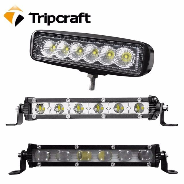 18w Led Work Light Bar Ip67 Spotlights Flood Beam For Offroad Auto Toyota Uaz Motorcycle Ramp 6500k Car Driving Fog Lamp 12v 24v Review Led Work Light Fog Lamps Motorcycle Ramp