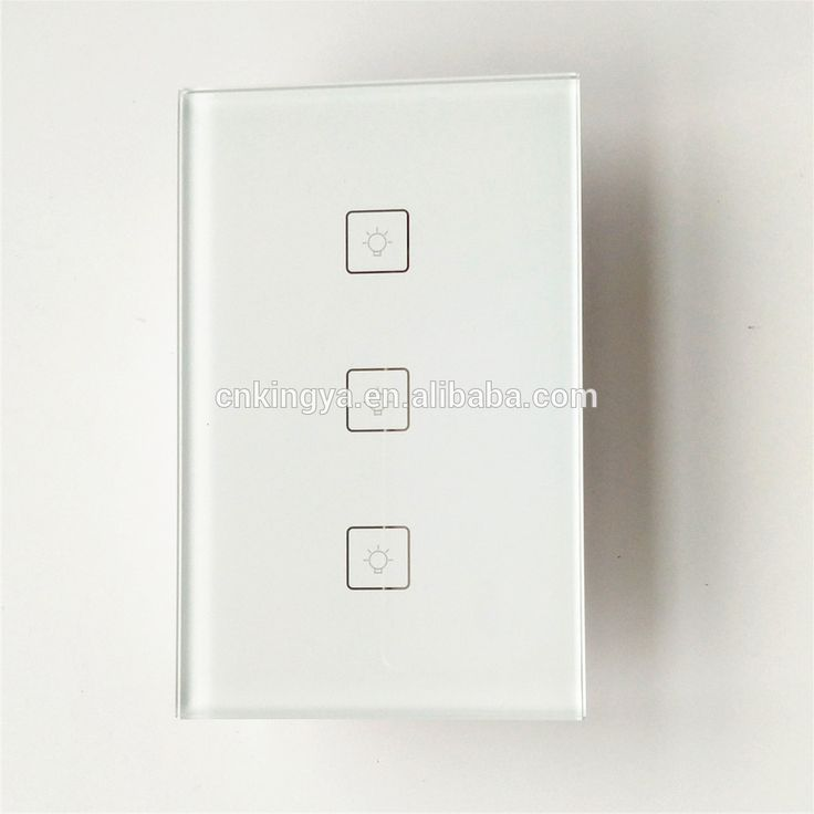 US WiFi Wall Touch Light Switch 3 gang ON/Off Wireless Remote Control by iOS Android Phone Amazon alexa and google home