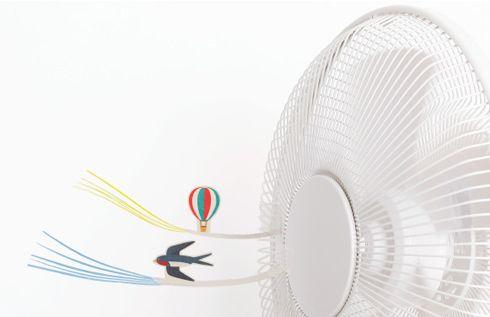 扇風機でツバメが飛ぶ。 Fan accessory ファンアクセサリー