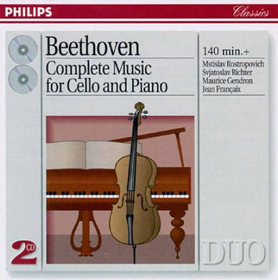 Beethoven: Complete Music for Cello & Piano. Quality recording of Mstislav Rostropovich & Sviatoslav Richter