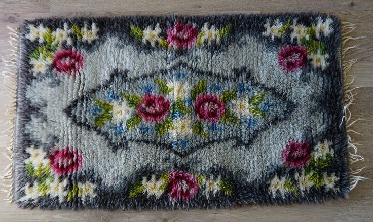 Swedish Wool Rya rug, Swedish Vintage /Danish Rya Shag Rug by ScandicDiscovery on Etsy