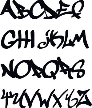 Graffiti alphabet a-z, graffiti Buchstaben, graffiti letters, graffiti schrifft abc bubble, graffiti schrift abc 3d