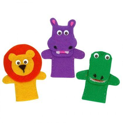 Felt Safari Animal Finger Puppets - CleverPatch